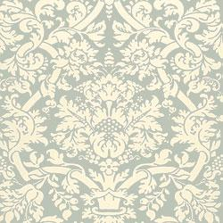 Wallpaper - Thibaut Residence - Residence Damask - Wallpaper - Slate Blue - thibaut, residence, damask, slate blue, wallpaper