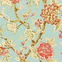 Fabrics - Thibaut Cypress - Pondicherry - Fabric - Aqua - thibaut, cypress, pondicherry, fabric