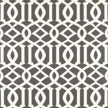 DecoratorsBest, Detail1, Sch 5003361, Imperial Trellis, Charcoal, Wallpaper, DecoratorsBest