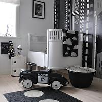 styleroom.se  Fun, contemporary white & black boy's nursery design with white modern ...