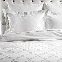 Bedding - Z Gallerie - Mimosa Bedding - White Jacquard - mimosa, bedding, white, jacquard