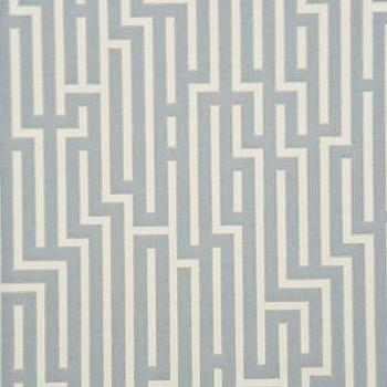 Wallpaper - Fretwork - Silver Indoor Wallcovering - Fabric Copia - fretwork, silver, wallpaper