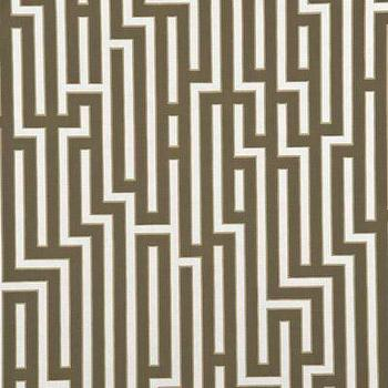 Wallpaper - Fretwork - Chocolate/Bronze Indoor Wallcovering - Fabric Copia - fretwork, chocolate, bronze, wallpaper