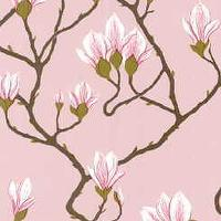 Wallpaper - Magnolia - Pink Indoor Wallcovering - Fabric Copia - lee jofa, magnolia, pink, wallpaper
