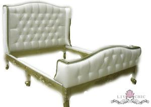 Beds/Headboards - Liv-Chic Furniture - white, tufted, bed