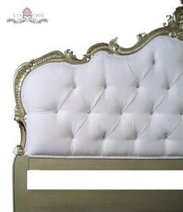 Beds/Headboards - Liv-Chic Furniture Maryana headboard with DIAMONDS! - white, tufted, rococo, headboard