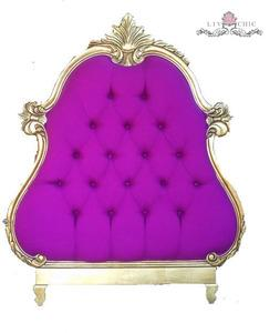 Beds/Headboards - Liv-Chic Furniture  Didi Baroque Tufted headboard - purple, rococo, headboard