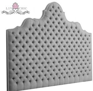 Beds/Headboards - Liv-Chic Furniture Big Lush Headboard - gray, tufted, headboard