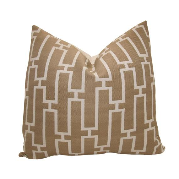 Pillows - Indoor/Outdoor Decorative Designer Pillow Cover18 by nenavon - brown, link, pillow