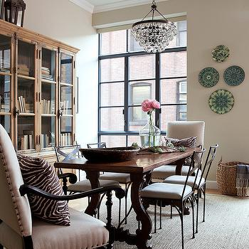 French Dining Table, Eclectic, dining room, Jenny Wolf Interiors