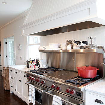 Beadboard Kitchen Hood, Transitional, kitchen, Angie Gren Interiors