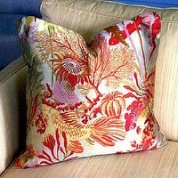 Pillows - Koi Cushion Coral Multi by plumcushion on Etsy - lee jofa, coral, koi, pillow