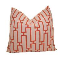 Pillows - Indoor/Outdoor Decorative Designer Pillow Cover18 by nenavon - link, tangerine, pillow
