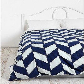Kate Spade Saturday Chambray Diagonal Duvet Cover Shams