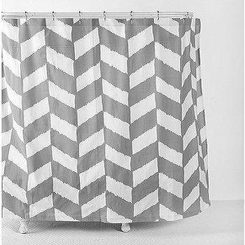 Bath - UrbanOutfitters.com > Herringbone Shower Curtain - gray, herringbone, shower curtain