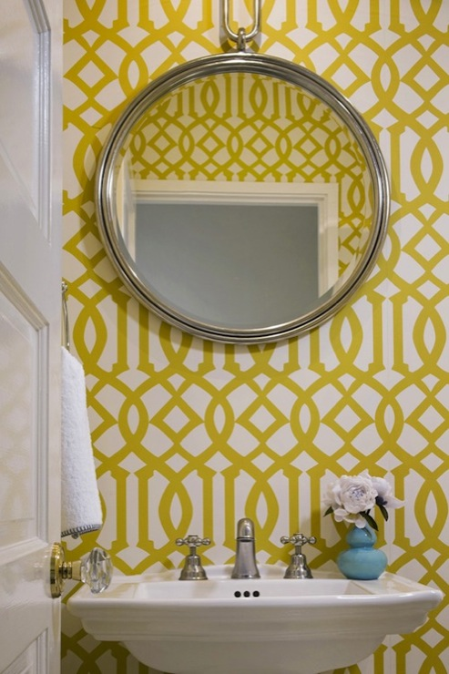 Kelly Wearstler Wallpaper - Contemporary - bathroom - Jute ...