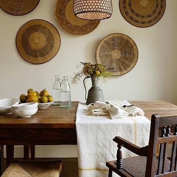 Jute interior Design - dining rooms - honeycomb, pendant, baskets, wall art, farmhouse, dining table, wood, bench, seagrass, stools, wall baskets, decorative wall baskets, wall baskets,