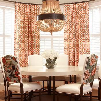 Orange And Gray Curtains Contemporary Living Room