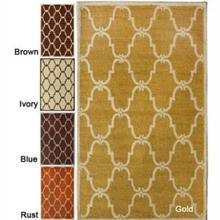 Rugs - Handmade Luna Marrakesh Trellis Wool Rug (7'6 x 9'6) | Overstock.com - luna, marrakesh, rug