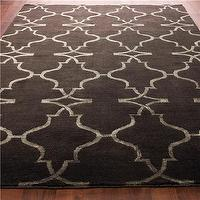 Rugs - Hand-Knot Diamond Trellis Rug: 3 Colors - Shades of Light - hand knot, diamond, trellis, rug