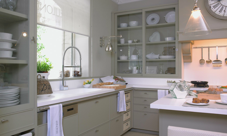 Grey And Green Kitchen grey green kitchen cabinets | bedroom and living room image