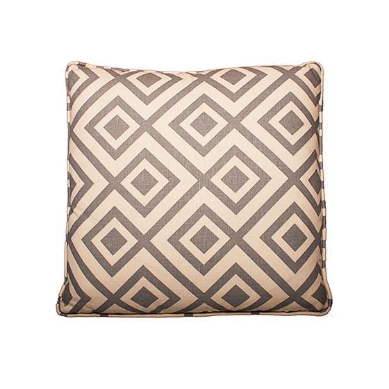 Designer Fluff Soft Grey and Wheat Modern Decorative Throw Pillow