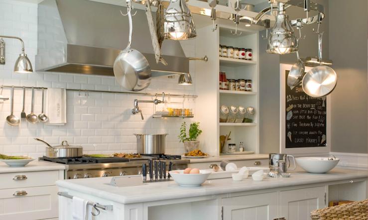 Island Pot Rack - Transitional - kitchen - Deulonder