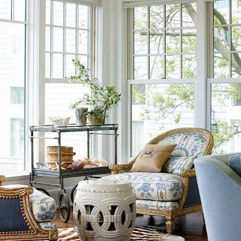 Ikat Chair, Cottage, living room, New England Home