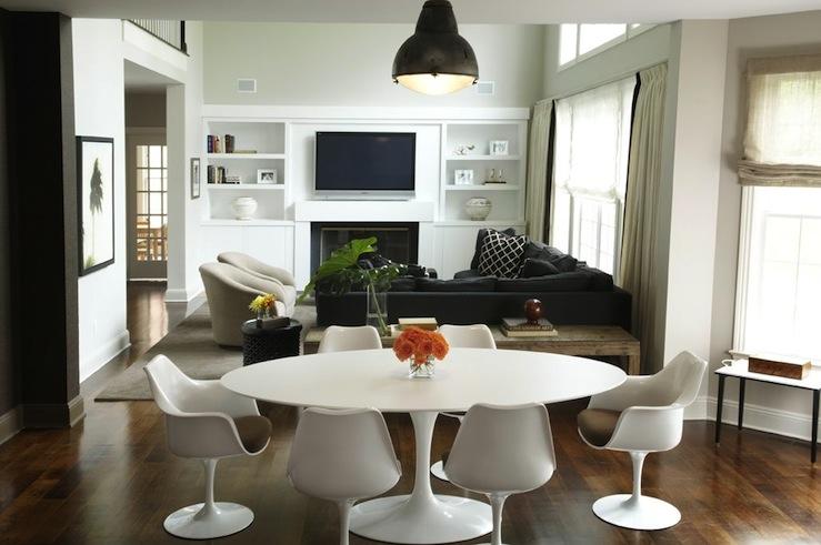 Saarinen Table Oval Modern Dining Room Kwinter Design