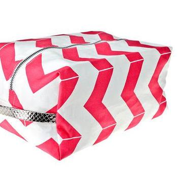 Hammocks & High Tea Chevron Dopp kit