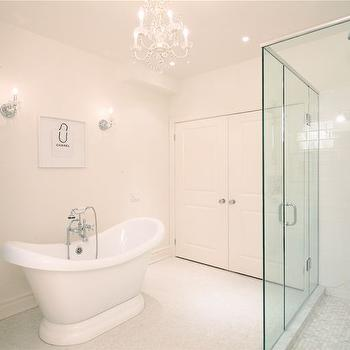 bathrooms - slipper tub, white bathroom, cloud white,  A beautiful white bathroom.