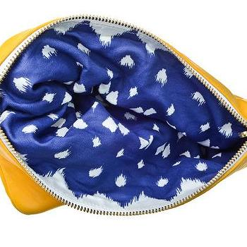 Miscellaneous - Hammocks & High Tea Lattice Reversible Clutch - yellow, blue, reversible, clutch