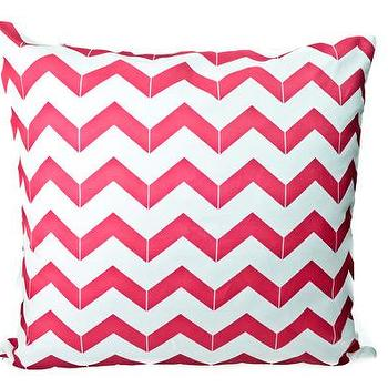 Pillows - Hammocks & High Tea Chevron Pillow - pink, chevron, pillow