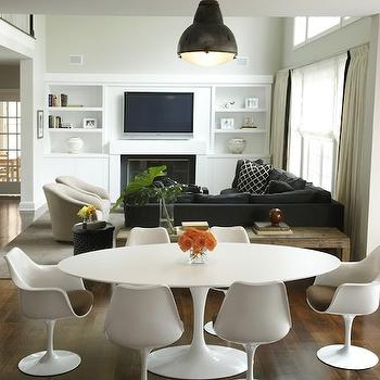 Saarinen Table Oval, Modern, dining room, Kwinter Design