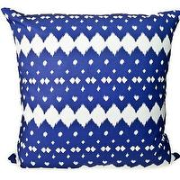 Pillows - Hammocks & High Tea Lattice Pillow - blue, lattice, pillow