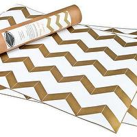 Decor/Accessories - Hammocks & High Tea Chevron Gold Metallic Drawer Liners - chevron, gold, metallic, drawer liners