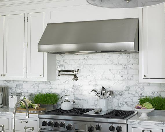 Marble subway tile transitional kitchen diana for What kind of paint to use on kitchen cabinets for ceramic art wall tiles