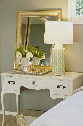 Desk As Nightstand Transitional Bedroom Design Stiles