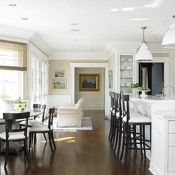 Black and White Bar Stools, Traditional, kitchen, Diana Sawicki Interior Design