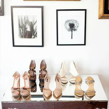 The Glitter Guide - closets - mirrored, table, shoes, eclectic, art, photo, gallery, mirrored console table,  Krystal Of This Time Tomorrow -