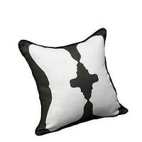 Pillows - AphroChic - Reflection Black & White - reflection, black, white, pillow