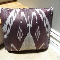 Pillows - purple & denim ikat pillow - Textiles - RUMMAGE - purple, denim, ikat, pillow