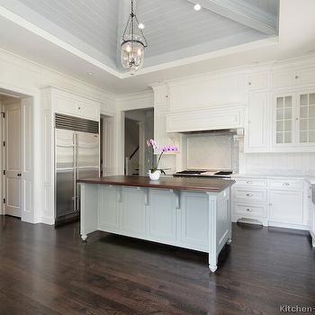 Gray Center Island, Transitional, kitchen, Kitchen Design Ideas