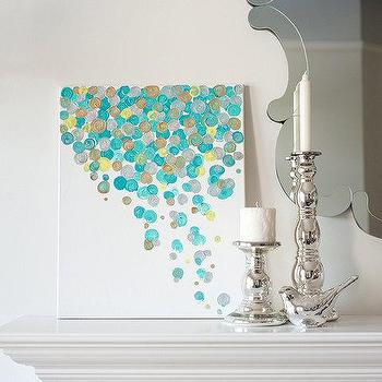 16x20 Canvas Painting Confetti Turquoise by luluanddrew on Etsy