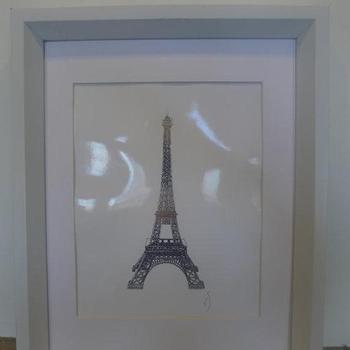 Art/Wall Decor - Eiffel Tower Sterling Silver Glossy by ISeeNoise on Etsy - eiffel tower, sterling, silver, glossy, art, print