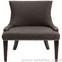 Seating - Becca chair with metal studs - grey, gray, becca, chair