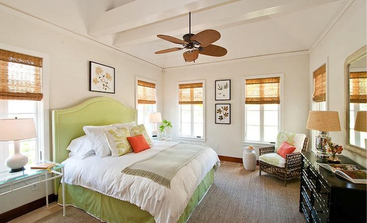 Green Headboard Cottage Bedroom Elizabeth Newman