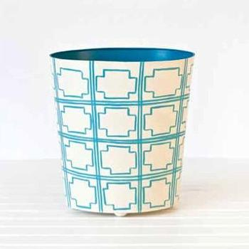 Decor/Accessories - Wastebaskets | Maison Blanche Home - worlds away, oval, wastebasket, blue
