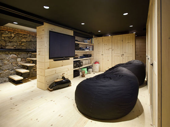 basement playroom contemporary basement