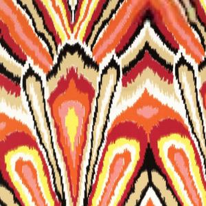 Fabrics - Peacock Print - Punch - trina turk, peacock, print, fabric, punch